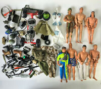 "1990s 12"" Action Man Figure Doll Weapons Accessories GI Joe M&C Formative Lot 17"