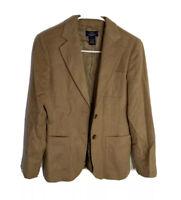 Brooks brothers women's 100% camel hair tan 2 Button Blazer jacket size 2P