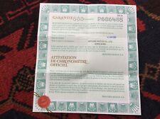 ROLEX 79174 Attestation De Chronometre Certificate 2001 paper + FREE SHIPPING