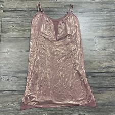 Victoria's Secret Pink Shine Soft Slip Dress Mesh Womens Sz L