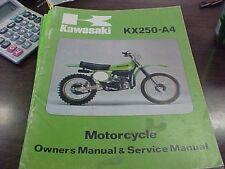 Kawasaki KX 250 A-4 Owner's Manual & Service Manual