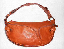 FRANCESCO BIASIA sac à main cuir brun roux  TBE