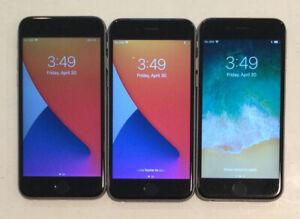 LOT OF THREE TESTED CDMA + GSM UNLOCKED APPLE iPhone 6S, 128GB PHONES A105J