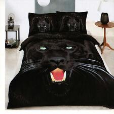 Black leopard 600TC Cotton Queen Bed Quilt/Doona Cover 3PC Set