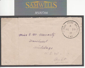 MS766 1919 AUSTRALIA FORCES EGYPT Superb *FPO LW2* Light Horse Cavalry Cover