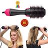 Dryer Hair and Volumizer  hot air paddle Hair Straightener Curler Brush Salon