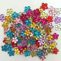 100pcs Resin flower shape FlatBack Appliques Wedding DIY making craft  random mix 6f6302b84e12