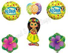 HIBISCUS HULA GIRL Luau Birthday Party Balloons Decoration Supplies Beach Pool