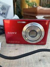 "Sony Cyber-shot DSC-W330 14.1MP Digital Camera 3.0"" LCD Screen Red 4 GB SD Card"