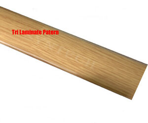 B&Q 3-Strip Oak Effect Threshold 38mm x 900mm Transition Strip Multi Purpose