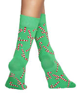 Happy Socks Damen Christmas Candy Cane Sock Größe 36/40 / UVP 13€ HSF1051
