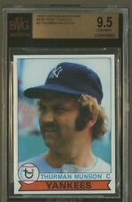 1979 Topps Burger King THURMAN MUNSON #2 BGS BVG 9.5 GEM MINT New York Yankees
