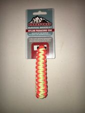 Orange Yellow Paracord Survival Bracelet 9 Ft Cord Military Grade 550