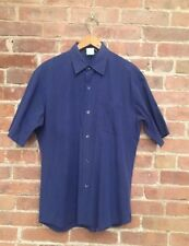 Vintage Agnes B Homme Men's Shirt Sz 3 Medium Blue, Japan