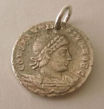 SOLID 925 STERLING SILVER ANCIENT ROMAN COIN II CHARM/PENDANT