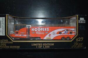 1995 Racing Champions 1:87 NASCAR Racing Team Transporter Loy Allen Hooters #27