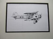 British Fairey Swordfish Torpedo Bomb artist pen ink 1964 New York Worlds Fair