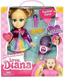"""LOVE DIANA 13"""" Popstar Diana Doll WITH SING-ALONG MICROPHONE Plays Her Song 2021"""