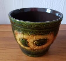 Vintage retro scheurich keramik Germany plant pot 887-12 sunflower