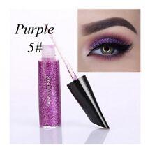 Shimmer Glitter Pigment Eye Makeup Cosmetic 6 Colors Liquid Eyeliner Eyeshadow Purple