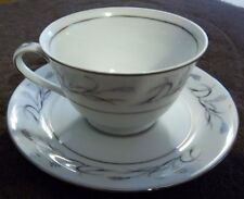 HARMONY HOUSE/SEARS PLATINIUM GARLAND 3541 FOOTED CUP & SAUCER