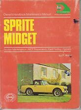 AUSTIN HEALEY FROGEYE & SPRITE 2-4 / MG MIDGET 1-3 & 1500 '58-MAINTENANCE MANUAL