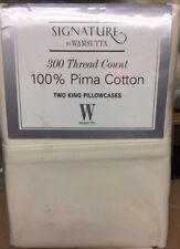 Wamsutta Signature * 300tc Pima Cotton* 2 King Pillowcases * Ivory