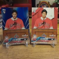 2018 Topps Opening Day Shohei Ohtani Blue Foil Parallel RC Card #200+ Base Lot