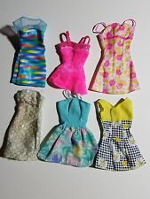 BARBIE & FRIENDS MIXED LOT OF 6 PINK LABEL SHORT DRESSES
