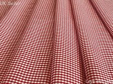 TOP QUALITY RED AND WHITE CHRISTMAS GINGHAM WOVEN FABRIC SOLD PER METRE
