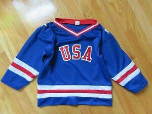 Vintage USA Winter OLYMPICS (SMALL 9-10) Jersey MIKE ERUZIONE JIM CRAIG Miracle