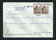 Sao Tome & Principe 1961 nice airmail official cover to TAHITI rare destination