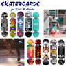 Standard Complete Skateboards 31x 8 Inch Longboard for Kids Adult Beginner