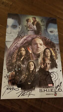 2018 Sdcc Wondercon Marvel Agents Of Shield Poster Signed Auto By 11 Bennet Wen