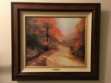 "Thomas Kinkade ""Autumn Lane"" 20 X 24 Limited Edition Framed Gallery Proof Canvas"