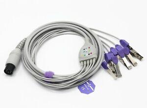 General 6pin Veterinary5-leads ECG cable, Vet use, AHA Clip, Sino-K SG5140V