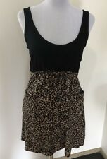Ladies MAURIE and EVE PLATINUM Leopard Rayon Knit Dress. Size 2 (10-12)