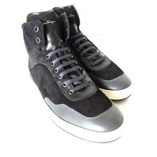 S-1045250 New Salvatore Ferragamo Palestro Hi-Top Sneakers Shoes Size US-10D