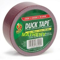 """Solid Maroon ~ Duck Brand Duct Tape ~ Burgundy Color Series 1.88"""" x 20 yards"""