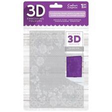 Crafters Companion Flourishing Frame 3D Embossing Folder EF5-3D-FLFR