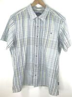 Patagonia Mens Plaid Multicolor Short Sleeve Button Down Shirt Size XL Pocket