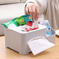 AU_ Desk Table Remote Control Phone Tissue Paper Storage Box Holder Organizer Ca