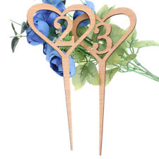 Rustic Heart Wood Table Number 1-10 Sticks Wedding Decor Birthday Party