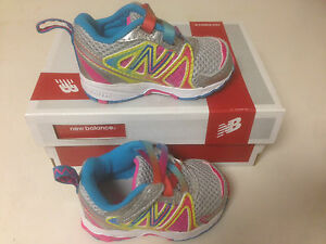NIB New Balance Kids Baby Girl KV696 (Infant/Toddler) Rainbow Sneaker Infant 2M