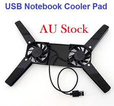 USB Laptop Cooling Fan Cooler Pad Stand Base Cradle Notebook Computer Netbook