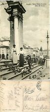 Livorno, Piazza Vittorio Emanuele, lato duomo, animata viaggiata 1918