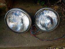 Vintage Lucas car lamps with chrome rims x 2