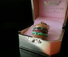 NEW JUICY COUTURE Hamburger burger Charm YJRU3432