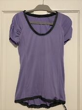 Lululemon Personal Best Top Tee Shirt 6 Purple Gray Cinch Waist