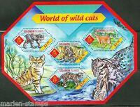 SOLOMON ISLANDS 2014 WORLD OF WILD CATS  SHEET  MINT  NH
